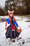 Holo with Basket of Apples, Spice and Wolf Cosplay
