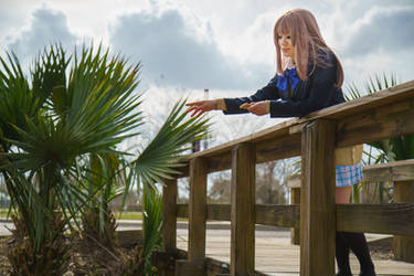 Shouko Feeds Bread to Koi, A SIlent Voice Cosplay by firecloak