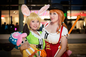 Nami and Carrot, Whole Cake Island Cosplay by firecloak