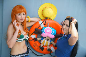 Nami, Robim, Chopper-One Piece Time Skip Cosplay by firecloak