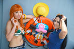 Nami, Robim, Chopper-One Piece Time Skip Cosplay by firecloak