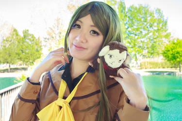 Nanami Smiles with Mamoru - Kamisama Kiss Cosplay by firecloak