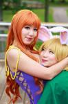 Nami Hugs Carrot, Zou Arc One Piece Cosplay