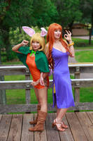 Nami and Carrot, One Piece Zou Arc Cosplay by firecloak