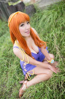 Nami Wakes Up, One Piece Zou Arc Cosplay by firecloak