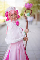 Lily and Staff - Recovery of MMO Junkie Cosplay by firecloak