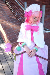 Closed Eyes, Lily-Recovery of MMO Junkie Cosplay