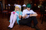 Kaho and Akizuki Gaming Together, Blend-S Cosplay by firecloak