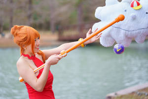 Nami Feeds Zeus Weather Ball One Piece Cosplay by firecloak