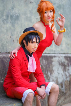 Nami Luffy One Piece Gangsta Red Dress Cosplay
