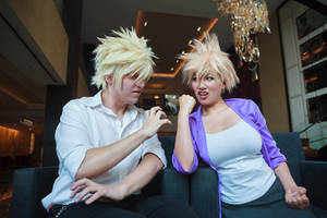 Bakugou Fights With Mom-My Hero Academia Cosplay by firecloak