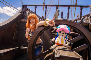 Nami the Navigator, Onwards-One Piece Cosplay by firecloak