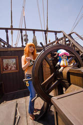 Nami: Navigating the World, One Piece Cosplay by firecloak
