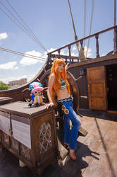 Nami and Chopper, One Piece Time Skip Cosplay by firecloak