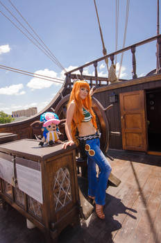 Nami and Chopper, One Piece Time Skip Cosplay