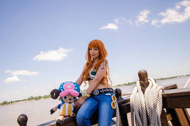 Nami and Chopper, One Piece Cosplay by firecloak