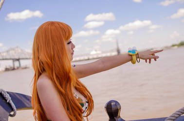 Nami: That Way, One Piece Cosplay by firecloak