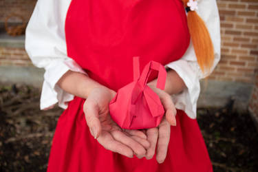 Ceony's Paper Origami Heart by firecloak