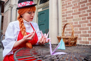 Ceony's Origami Birds, Paper Magician Cosplay by firecloak