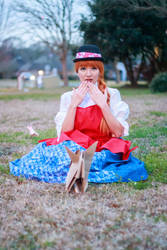 Fennel Protects Ceony - Paper Magician Cosplay by firecloak