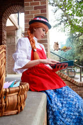 Ceony Reads Pip's Book - Paper Magician Cosplay by firecloak