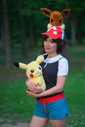 Let's Go Pikachu and Eevee Trainer Cosplay