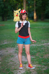 Let's Go Pikachu Female Trainer Cosplay
