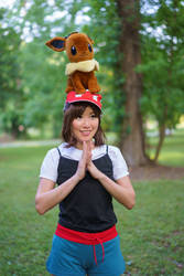 Blessed by Eevee - Pokemon Trainer Cosplay by firecloak