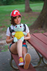Elaine and Squirtle - Let's Go Pikachu Trainer by firecloak