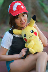 Portrait - Let's Go Pikachu Trainer Cosplay by firecloak