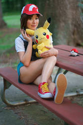 Let's Go Pikachu Pokemon Trainer Cosplay by firecloak