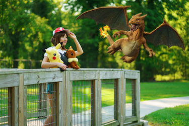 Let's Go Pikachu Trainer Cosplay - Charizard by firecloak