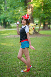 Let's Go Pikachu Pokemon Trainer Cosplay