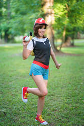 Ready - Elaine, Let's Go Pikachu Trainer Cosplay