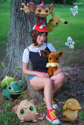 Elaine, Let's Go Pikachu Female Trainer Cosplay
