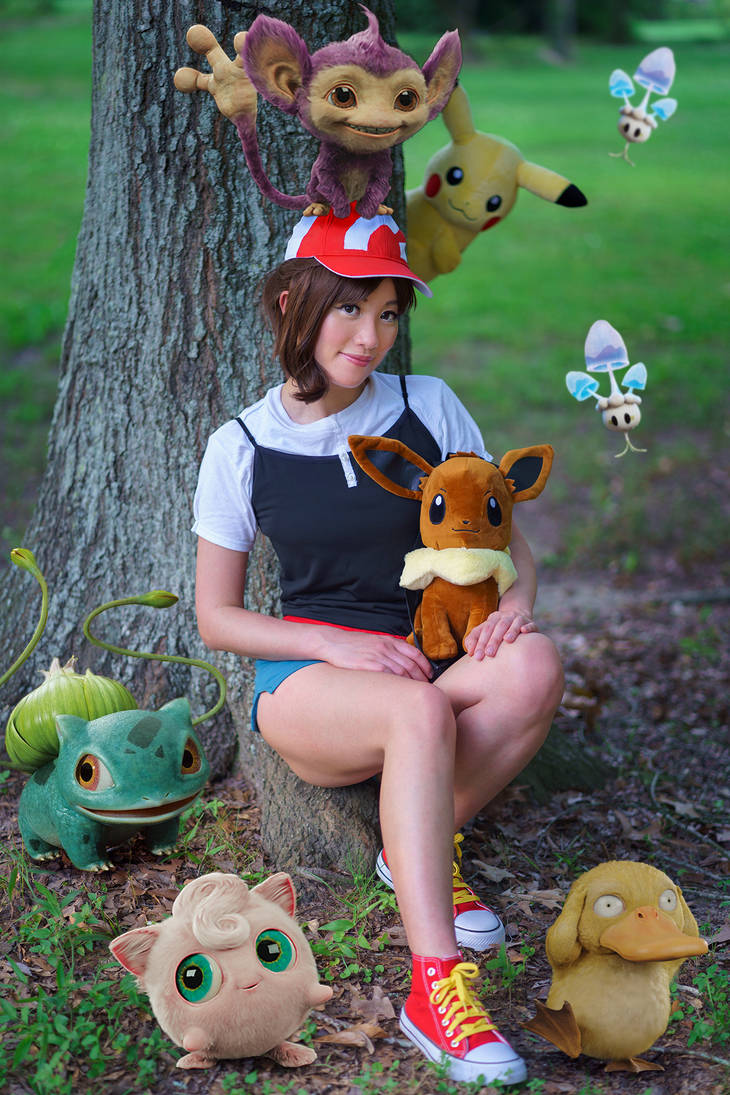 Elaine, Let's Go Pikachu Female Trainer Cosplay by firecloak