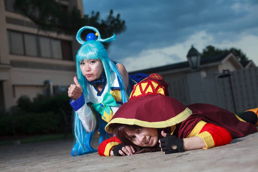 Aqua and Megumin Give Up - Konosuba Cosplay