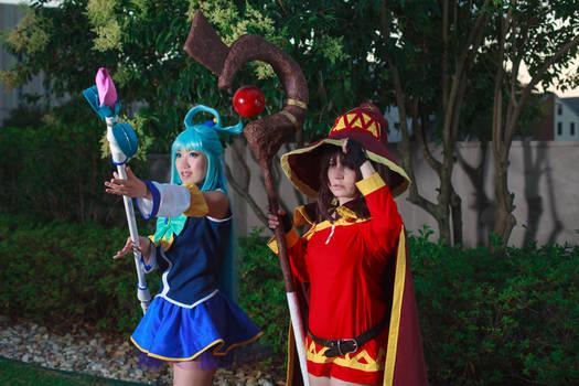 Battlepose - Megumin and Aqua, Konosuba Cosplay