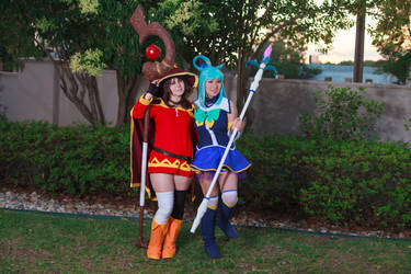 Megumin and Aqua - Konosuba Cosplay