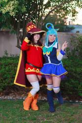 Aqua and Megumin - Konosuba Cosplay