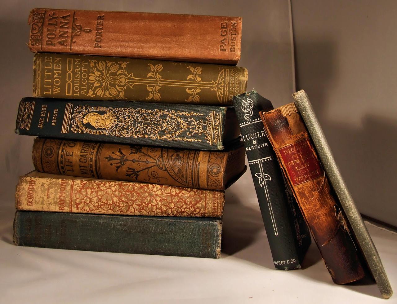 Antique Books 1 by DamselStock