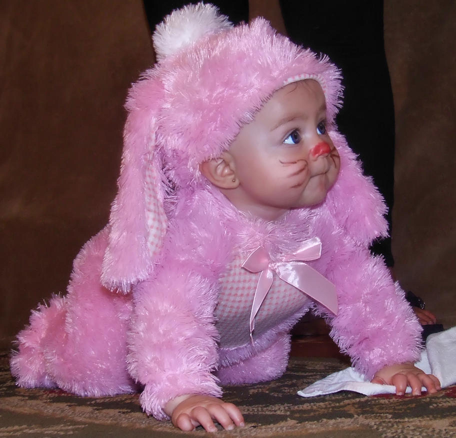 Baby Bunny Rabbit 1 by DamselStock