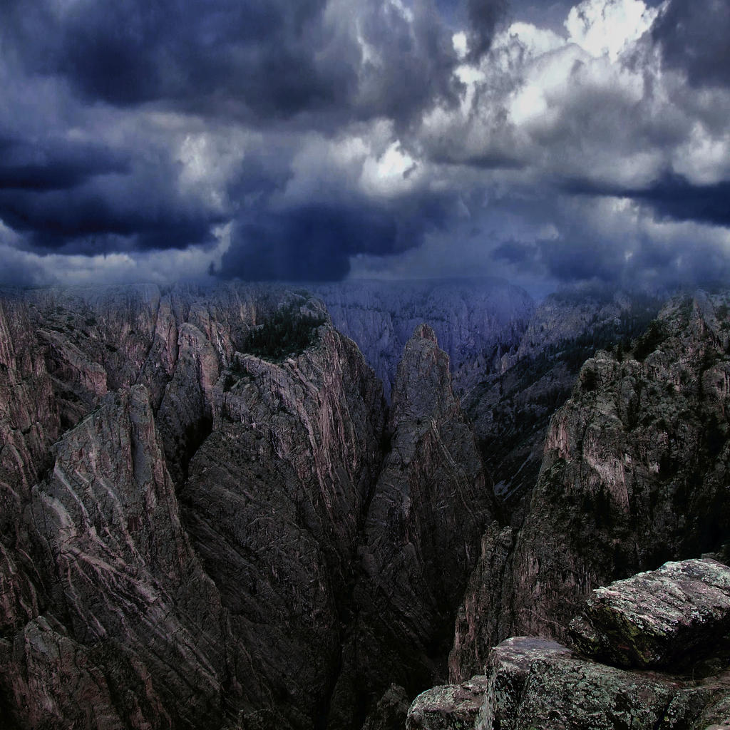 Stormy Canyon - Premade Background by DamselStock