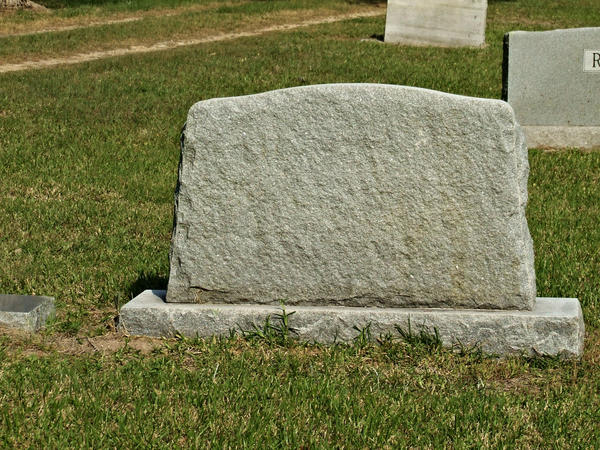 Blank Tombstone by Dam...