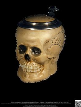 Gothic Vampire Pirate Skull Stein 10