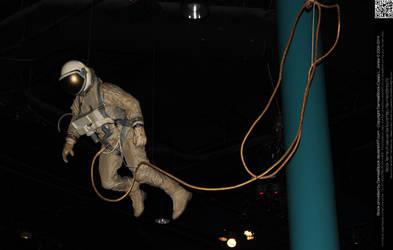 Astronaut in Orbit by DamselStock