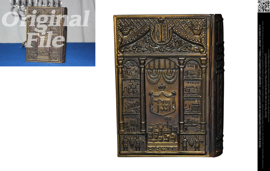 Antique Hebrew Bible by DamselStock