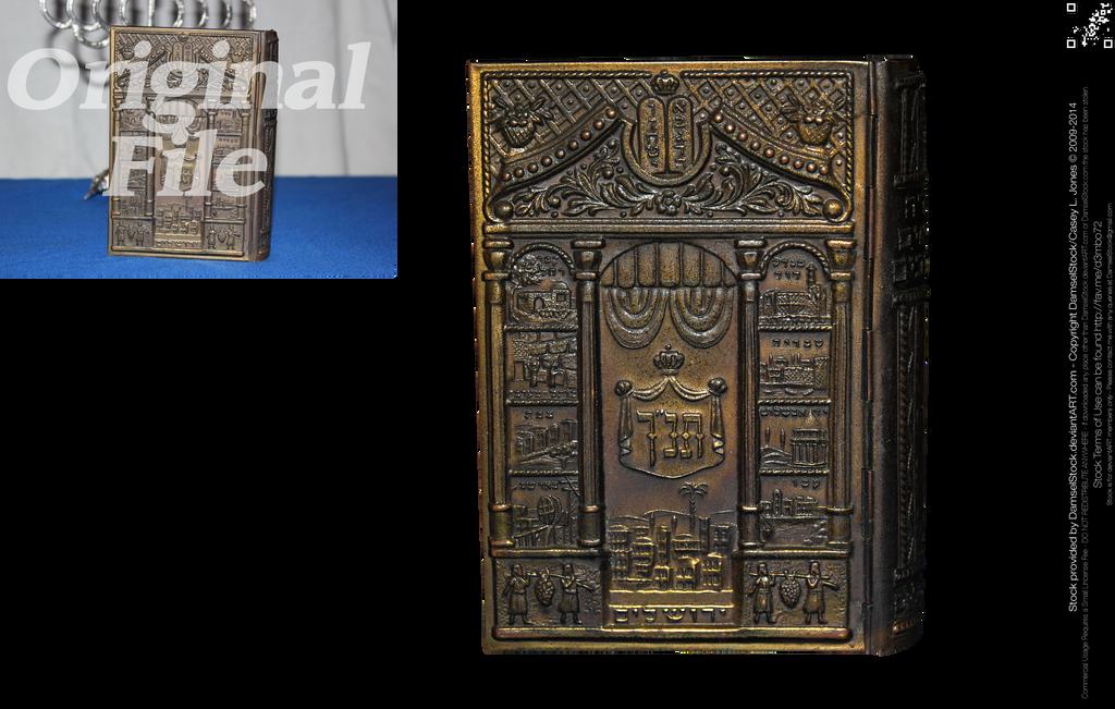 Antique Hebrew Bible by DamselStock