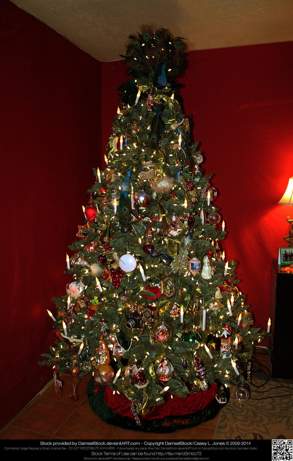 Christmas Trees Without Ornaments elaborately decorated christmas tree without giftsdamselstock