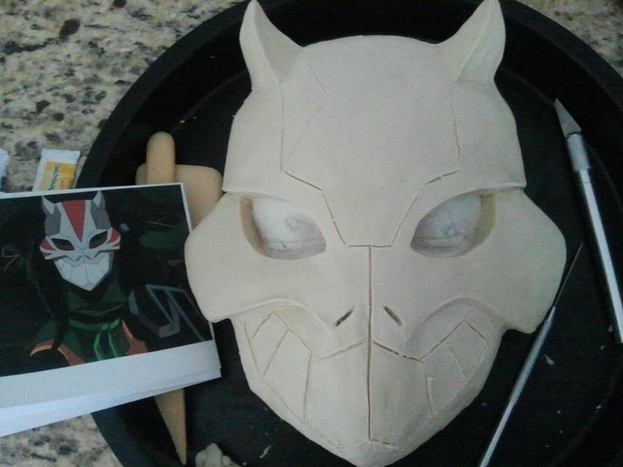 Cheshire Mask Progress by MaskedMenoly